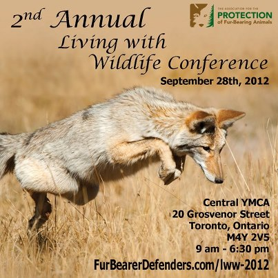 Join us on September 28th, 2012 for our Living with Wildlife event.
